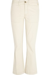Tory Burch Mid Rise Bootcut Jeans
