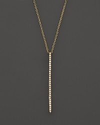 Kc Designs Diamond Stick Pendant Necklace In 14K Yellow Gold .10 Ct. T.W. Gold White