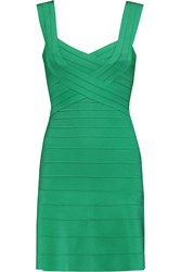 Herve Leger Bandage Dress Green