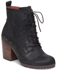 Lucky Brand Women's Orsander Lace Up Booties Women's Shoes Black