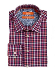 Tallia Orange Gingham Dress Shirt Navy