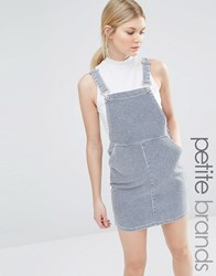 New Look Petite Stripe Pinny Dress Blue Pattern