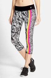 Trina Turk 'Harbour Island' Mix Print Crop Leggings Pink Berry
