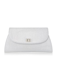 Untold Blanco Lurex Clutch Bag Silver