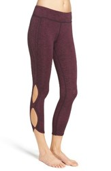 Free People Women's Infinity Cutout Crop Leggings True Navy Hot Pink