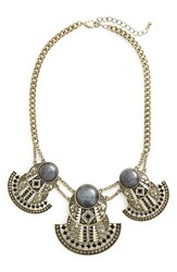 Sole Society Women's Statement Collar Necklace Antique Gold