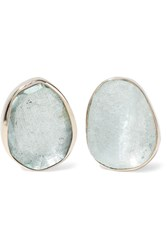 Melissa Joy Manning 14 Karat Gold Aquamarine Earrings
