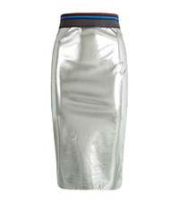 Pinko Razza Metallic Skirt Female Silver