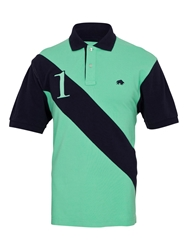 Raging Bull Big And Tall No1 Diag Stripe Polo Lime
