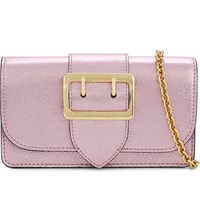 Burberry Buckle Leather Clutch Pale Orchid