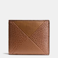Coach 3 In 1 Wallet In Patchwork Leather Dark Saddle