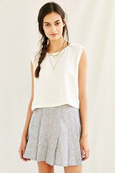 Urban Renewal Mixed Business Classic Cropped Top Cream