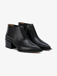 Givenchy Studded Leather Ankle Boots Black Silver
