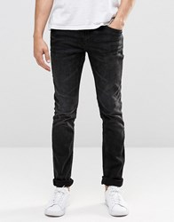 Blend Of America Jeans Cirrus Skinny Fit Stretch In Washed Black Washed Black