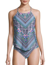 Laundry By Shelli Segal Printed Tankini Top Multi