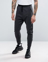 Pull And Bear Pullandbear Skinny Joggers In Dark Grey Anth.Grey