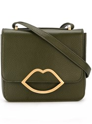 Lulu Guinness Medium 'Marcie' Crossbody Bag Green