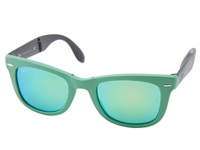 Ray Ban Rb4105 Wayfarer Folding 50Mm Green Plastic Frame Fashion Sunglasses