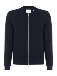Peter Werth Men's Hustler Textured Jersey Zip Bomber Navy