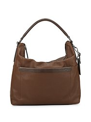 Tumi Rialto Leather Hobo Bag Brown