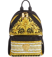 Versace Baroque Print Backpack Gold Black