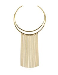 Laundry By Shelli Segal Hollywood And Vine Metal Fringe Collar Gold