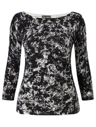 Phase Eight Marea Marble Print Jumper Black