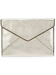 Rebecca Minkoff Envelope Clutch Bag Metallic
