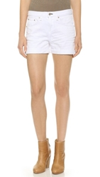 Rag And Bone The Boyfriend Shorts Aged Bright White