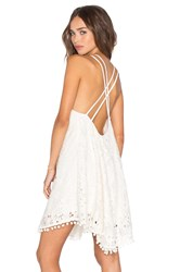 Lucy Paris Kate Criss Cross Dress Ivory