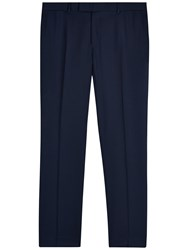 Jaeger Wool Regular Fit Suit Trousers Navy