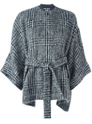 Brunello Cucinelli Belted Cape Black