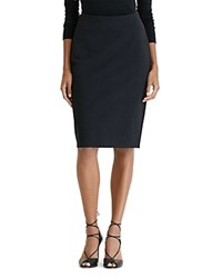 Ralph Lauren Ponte Knit Pencil Skirt Black