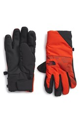 The North Face Men's 'Guardian E Tip' Tech Gloves Acrylic Orange Asphalt Grey