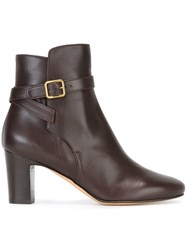 Michel Vivien 'Myosotis' Ankle Boots Brown