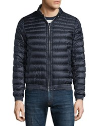 Moncler Garin Lightweight Quilted Down Jacket Navy