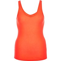River Island Womens Bright Orange Deep V Neck Vest
