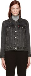 Levi's Black Denim Boyfriend Trucker Jacket