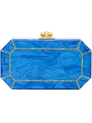 Edie Parker The Webster X The Ritz Clutch Blue