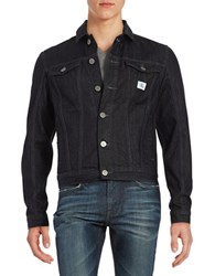 Calvin Klein Jeans Denim Button Front Jacket Blue