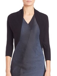 Elie Tahari Becca Shrug Grey Black