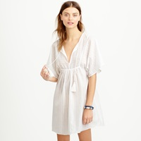 J.Crew Metallic Striped Tassel Beach Tunic