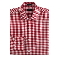 J.Crew Ludlow Cotton Linen Shirt In Classic Red Gingham