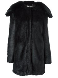 Stella Mccartney Shawl Lapel Faux Fur Coat Black