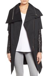 Women's Rudsak Asymmetrical Mixed Media Long Coat
