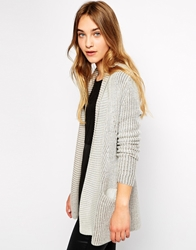 Esprit Ribbed Edge To Edge Cardigan Ivory