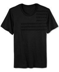 William Rast Men's Short Sleeve Tonal Caviar T Shirt Black
