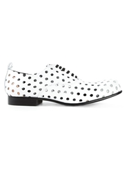 Comme Des Garcons Perforated Oxford Shoes White