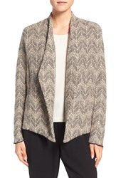 Eileen Fisher Women's Pebbled Chevron Alpaca Drape Front Jacket