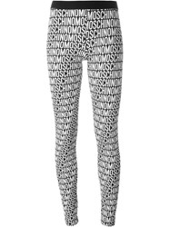 Moschino Underwear Logo Print Leggings Black